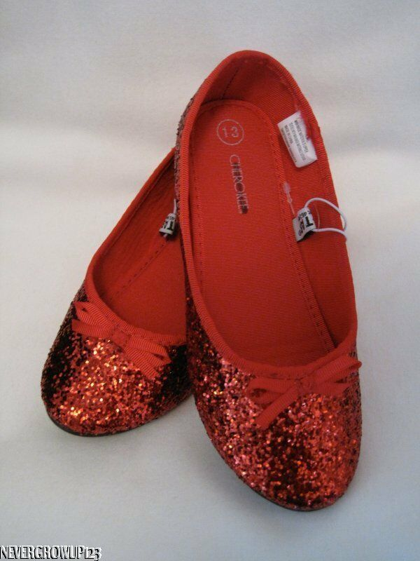 Cherokee Flora Red Glitter Dorothy Shoes Wizard
