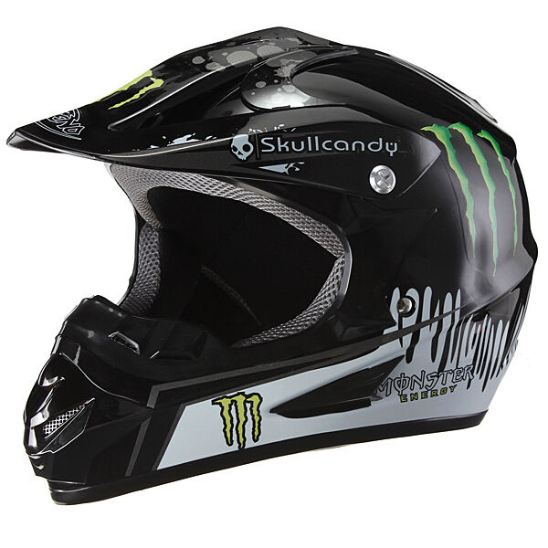 monster energy skullcandy motocross enduro racing helmet. Black Bedroom Furniture Sets. Home Design Ideas
