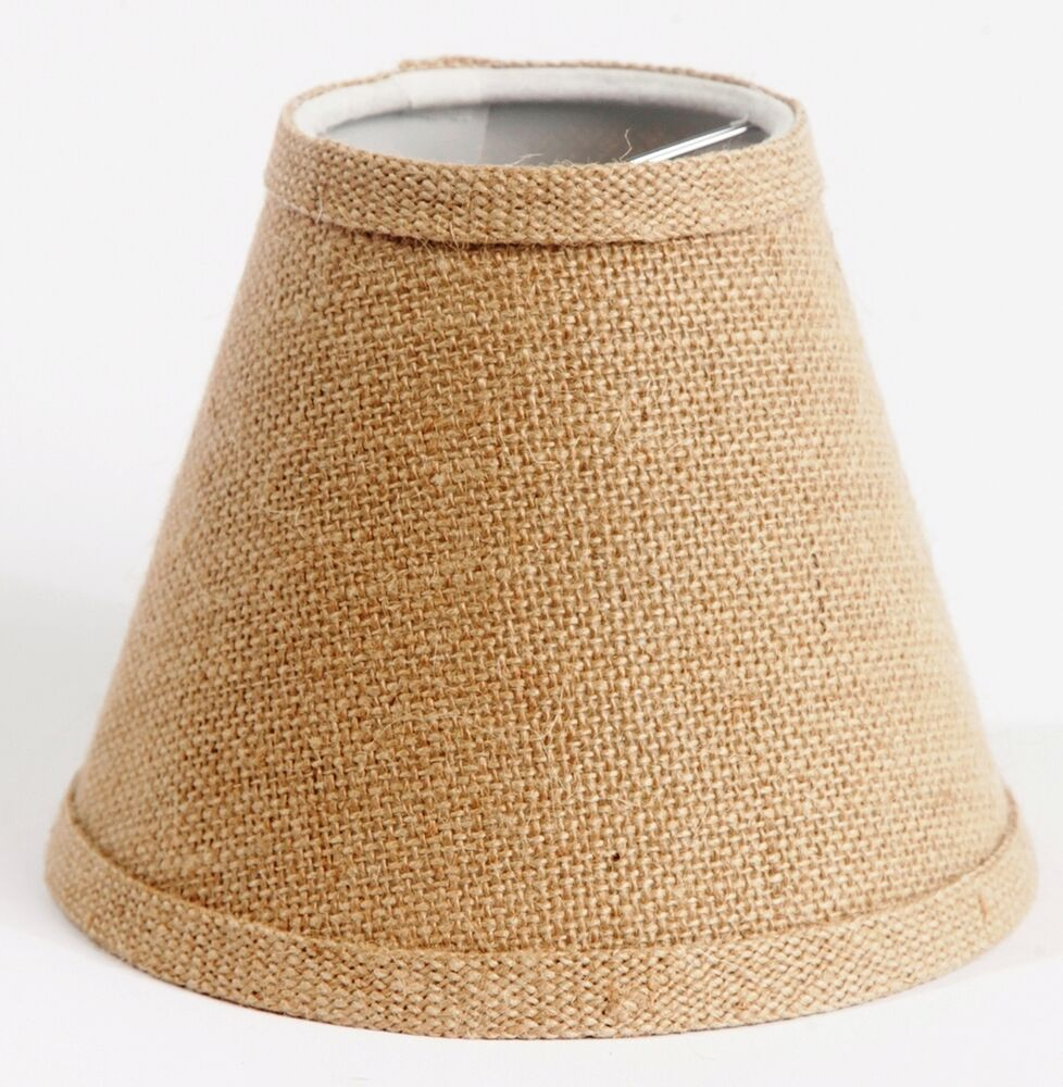 urbanest burlap hardback chandelier shade clip on 3 x6 x5 ebay. Black Bedroom Furniture Sets. Home Design Ideas