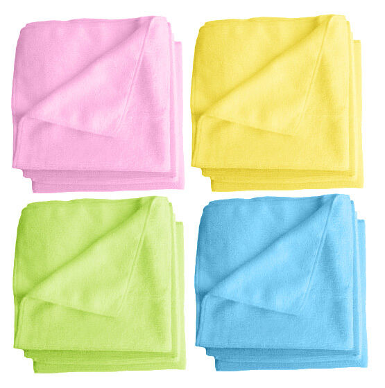 "Zip Soft Microfiber Towel: 6 Microfiber Towels 15""x15"",Cleaning Polishing Cloth Ultra"