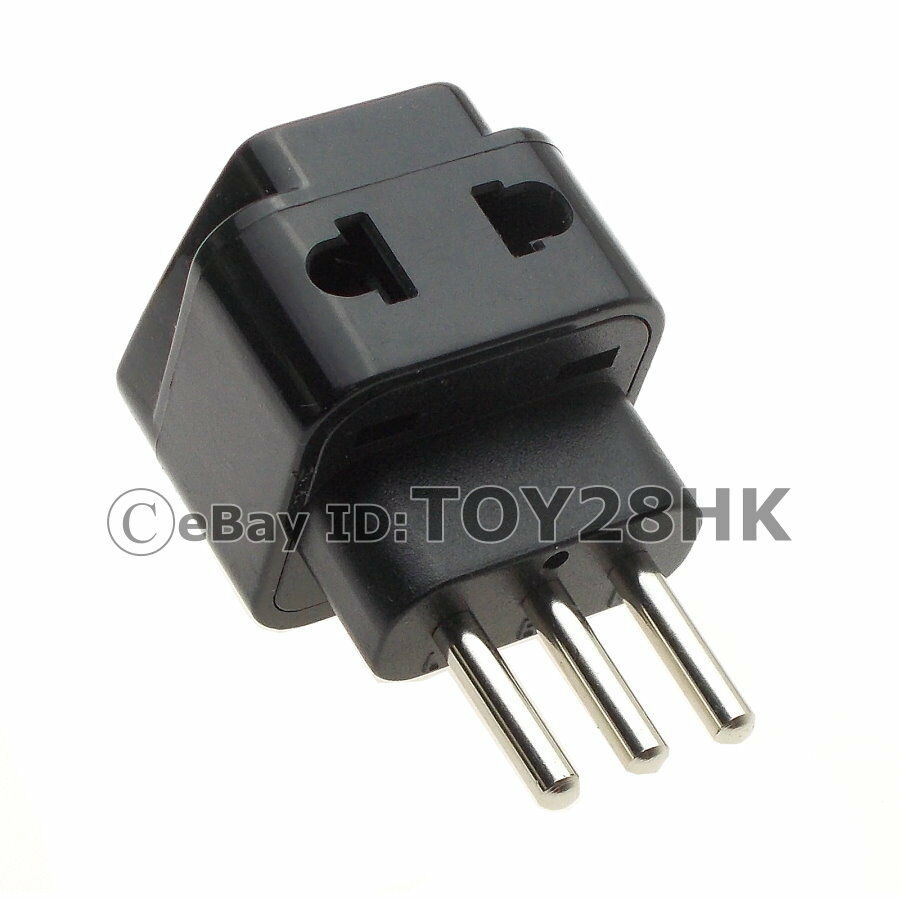 Italian Travel Adapter Power Plug 2 Outlet Convert World Plug To Italy 3 Pin Ebay