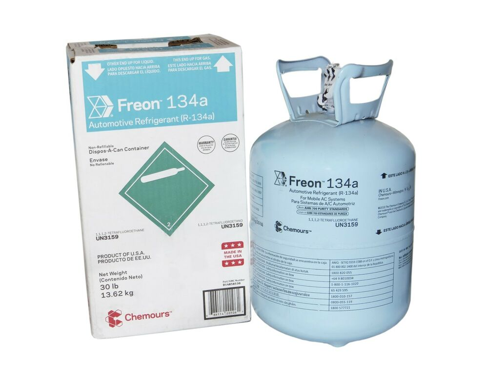 Chemours Dupont Suva 134a 30lbs Can Refrigerant Freon R