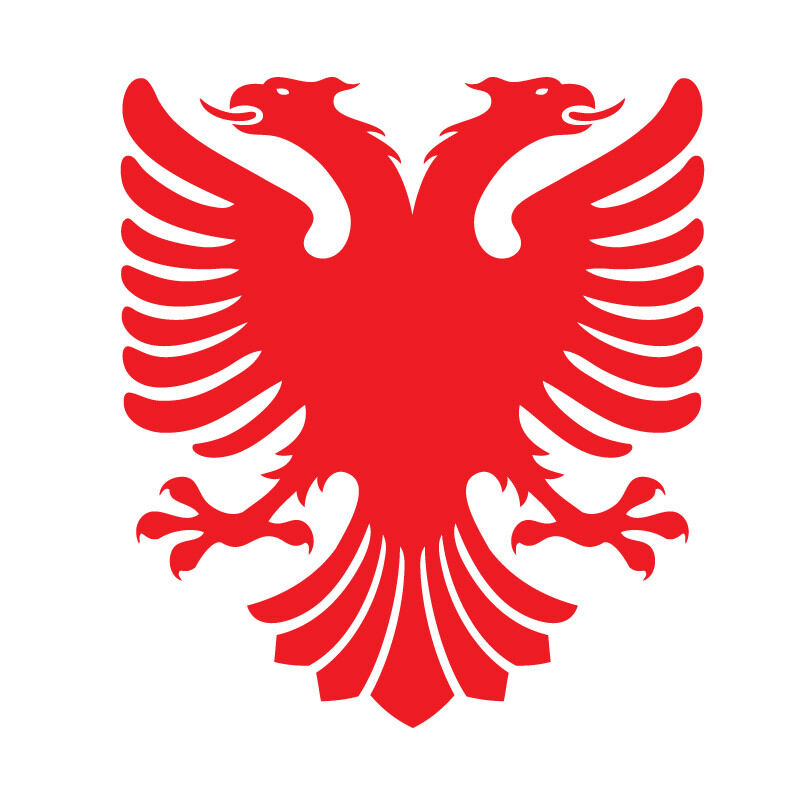 2 x albanian eagle car laptop vinyl sticker decal