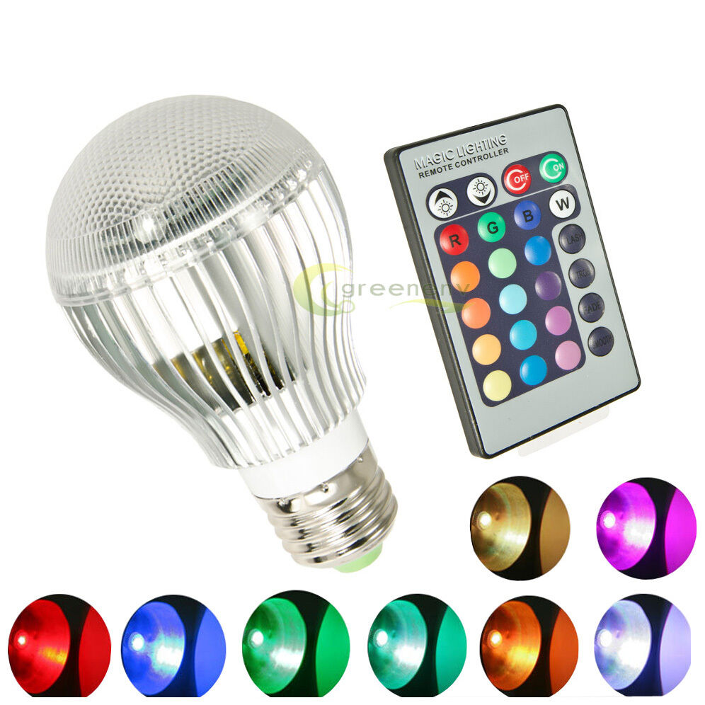 16 colors changing 9w magic e27 rgb led lamp light bulb ir remote control ebay. Black Bedroom Furniture Sets. Home Design Ideas