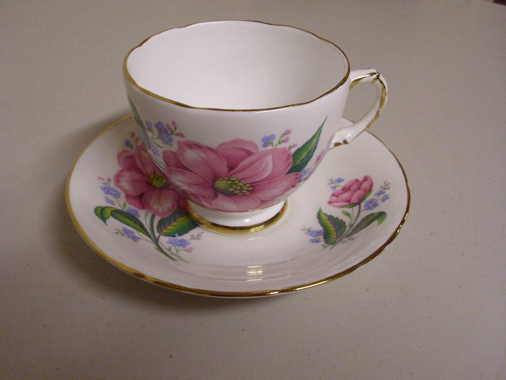 Delphine bone china tea cup saucer made in england ebay for Mode in england
