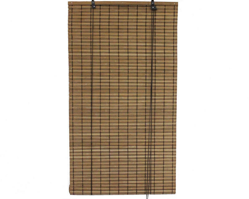 2 39 X 6 39 24 X 72 Brown Bamboo Slat Roll Up Blinds Window