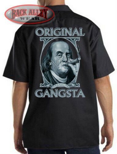 Original Gangsta Work Shirt Mechanics Biker M 3xl Benjamin