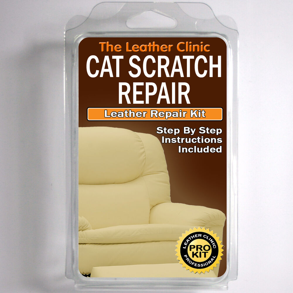 Leather Chair Scratch Repair TLC Leather CAT SCRATCH Repair Kit. Easy to Use. Complete with Filler ...