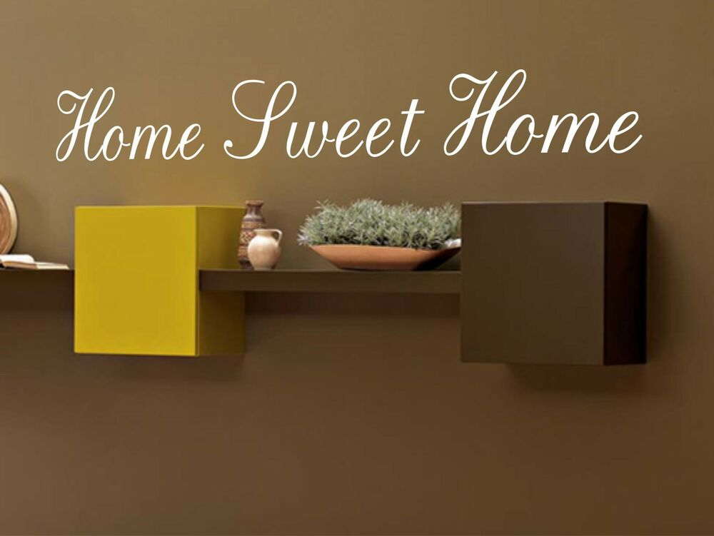 Home sweet home wall quote sticker vinyl wall decals mural Home sweet home wall decor