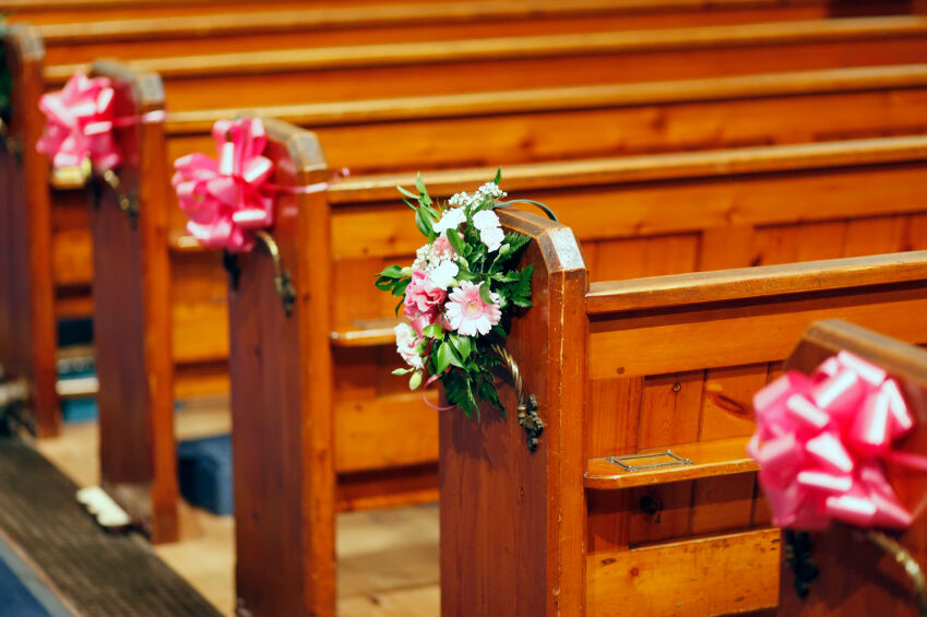 wedding church pew decorations large pull bows wedding decoration church pews top 8960