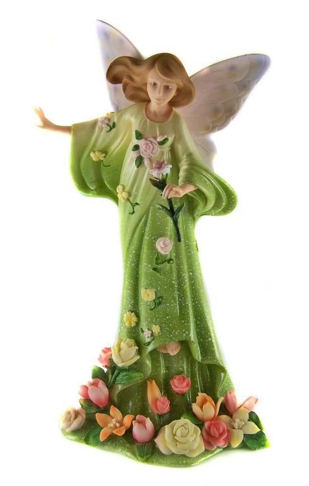 Blossom fairy angel figurine statue ornament home decor gift 24cm tall new ebay - Angels figurines for sale ...
