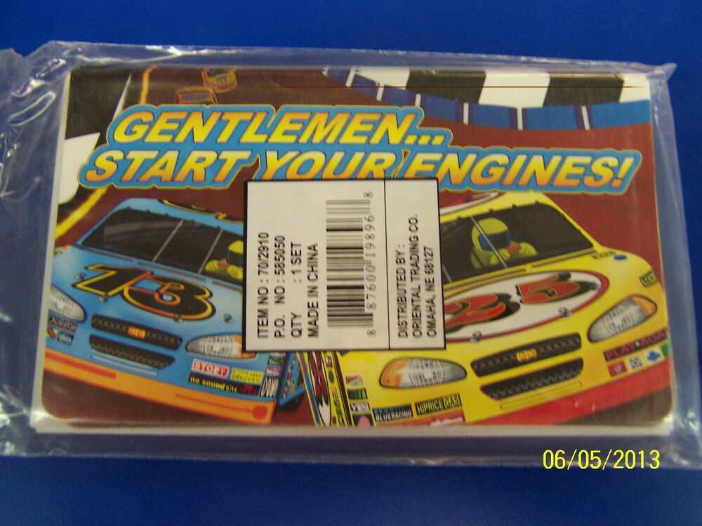 start your engines racing race car nascar birthday party invitations w envelopes ebay. Black Bedroom Furniture Sets. Home Design Ideas