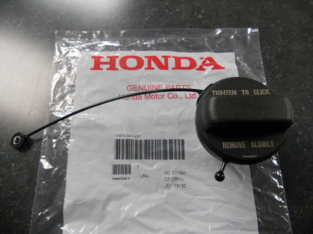 genuine oem acura honda fuel filler gas cap 17670 shj. Black Bedroom Furniture Sets. Home Design Ideas