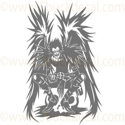 9 Quot Death Note Ryuk Anime Vinyl Wall Decal Or Macbook