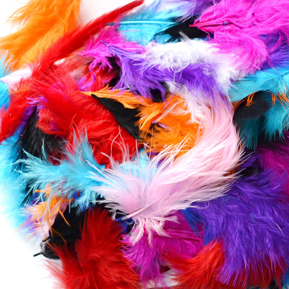 200 x fluffy marabou feathers card making embellishments for Where can i buy feathers for crafts