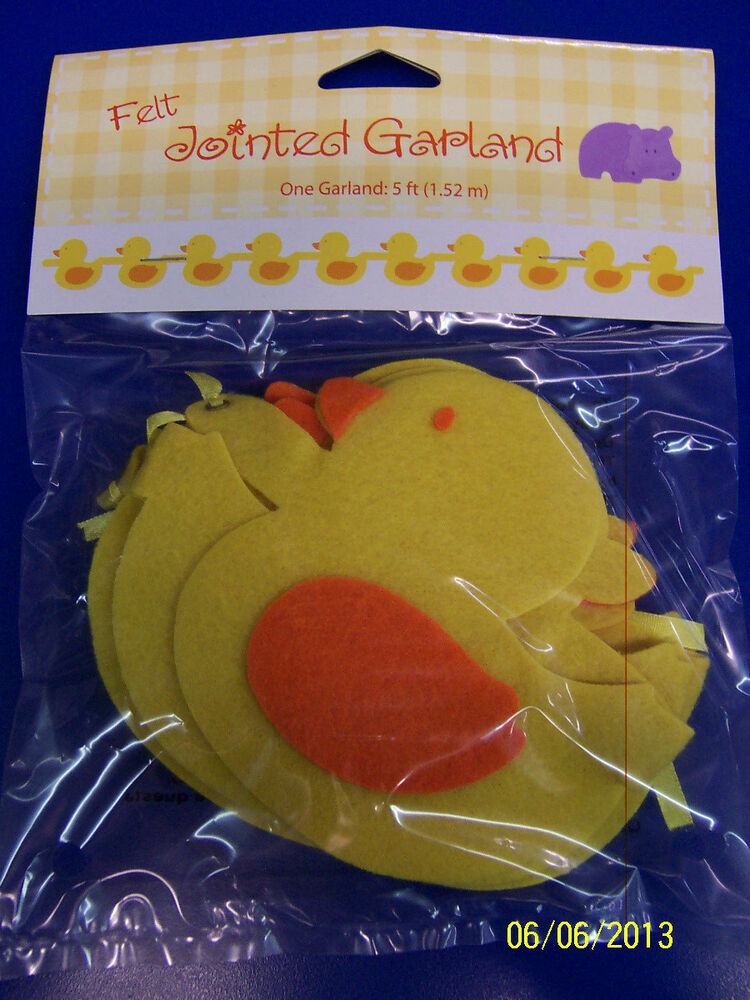 Yellow Ducks Rubber Ducky Baby Shower Nursery Party Decoration Felt