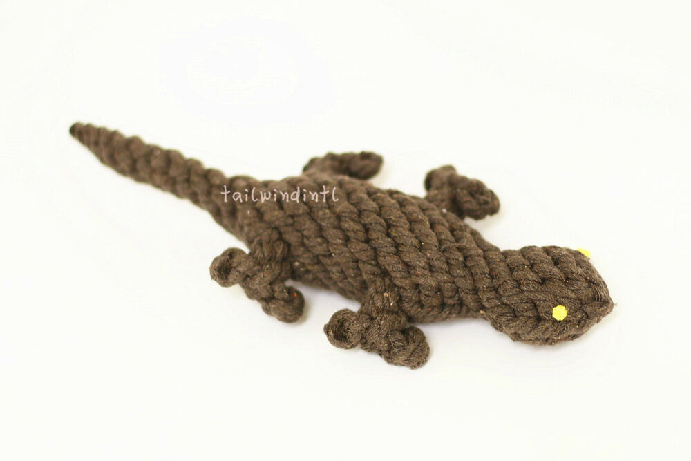 TOUGH SAFE HANDMADE KNIT ROPE CHEW ANIMAL TOYS FOR DOGS
