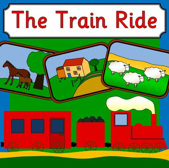 the train ride story teaching resources on cd eyfs ks1 journeys transport ebay. Black Bedroom Furniture Sets. Home Design Ideas
