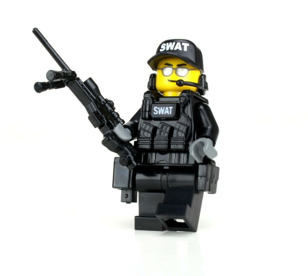Lego Swat Photo1: SWAT Sniper Police Minifigure (SKU52) Made With Real LEGO