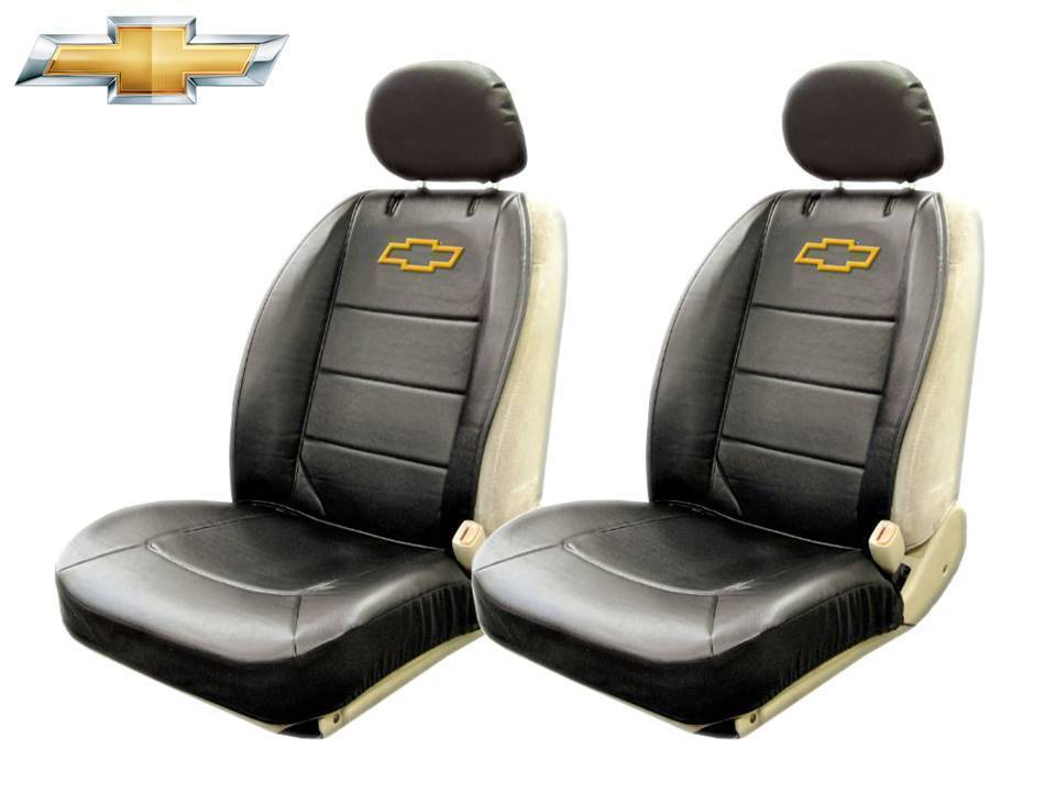 Chevrolet Chevy Elite Seat Covers Black Synthetic Leather