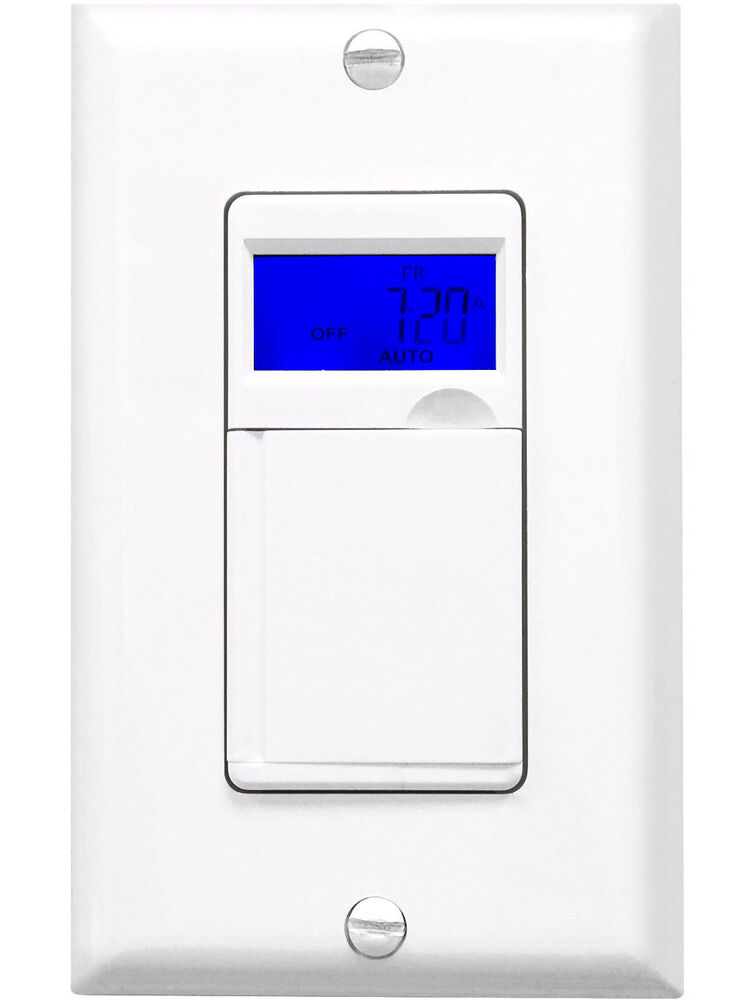 7-Day Programmable Timer Switch for Motors and Appliances - White with Blue LCD eBay