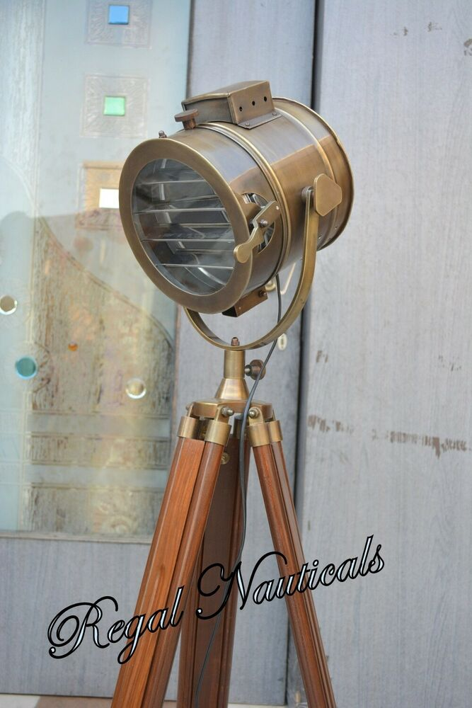 Designer Nautical Tripod Floor Lamps Searchlight Marine
