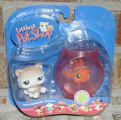 Littlest pet shop persian cat 129 fish nemo 130 2006 ebay for Pet stores that sell fish