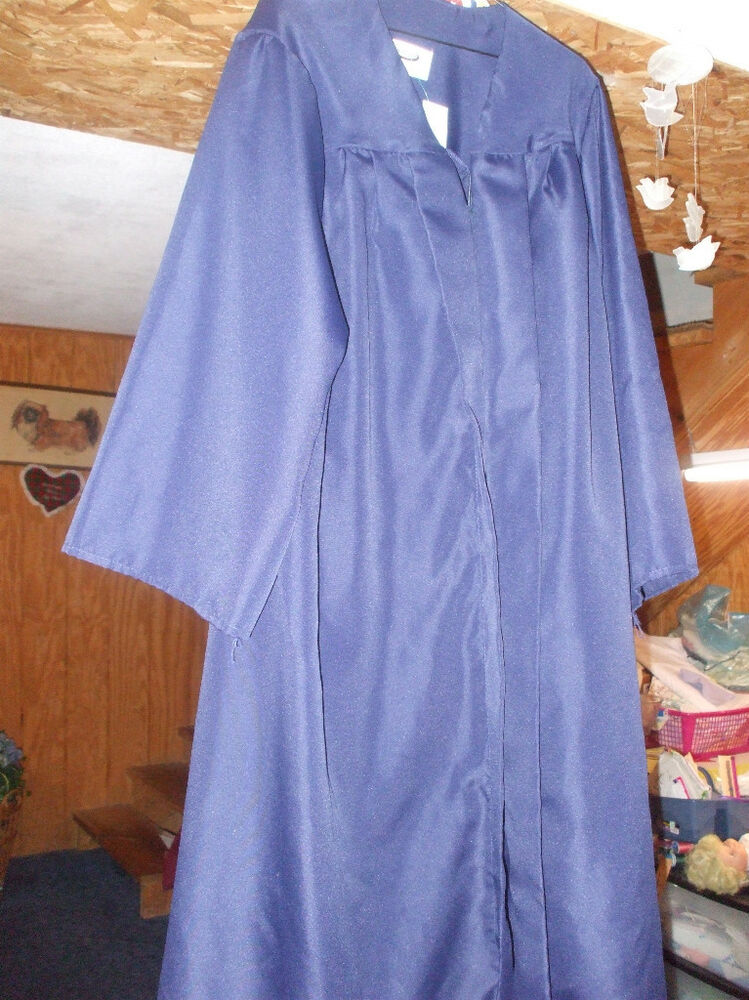Graduation Gown.Med. Blue Balfour 5\'6 to 5\'8 Preowned Zip Up. | eBay