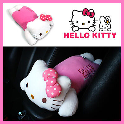hello kitty armrest cushion pink bow pillow cushion consoles auto accessories ebay. Black Bedroom Furniture Sets. Home Design Ideas