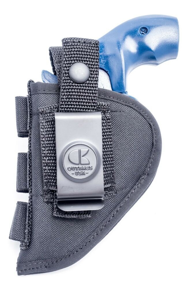 Ruger lcr 38 357 sa nylon owb open carry holster with shell loops