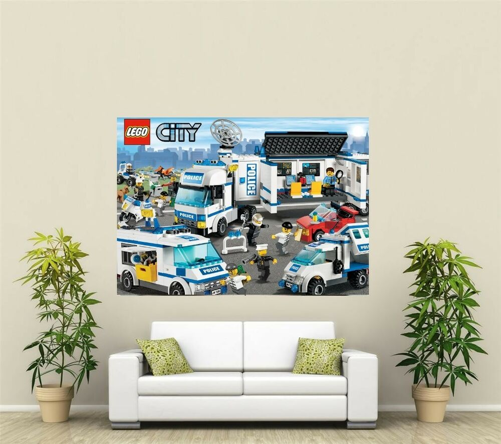 lego city police giant 1 piece wall art poster vg144 ebay. Black Bedroom Furniture Sets. Home Design Ideas
