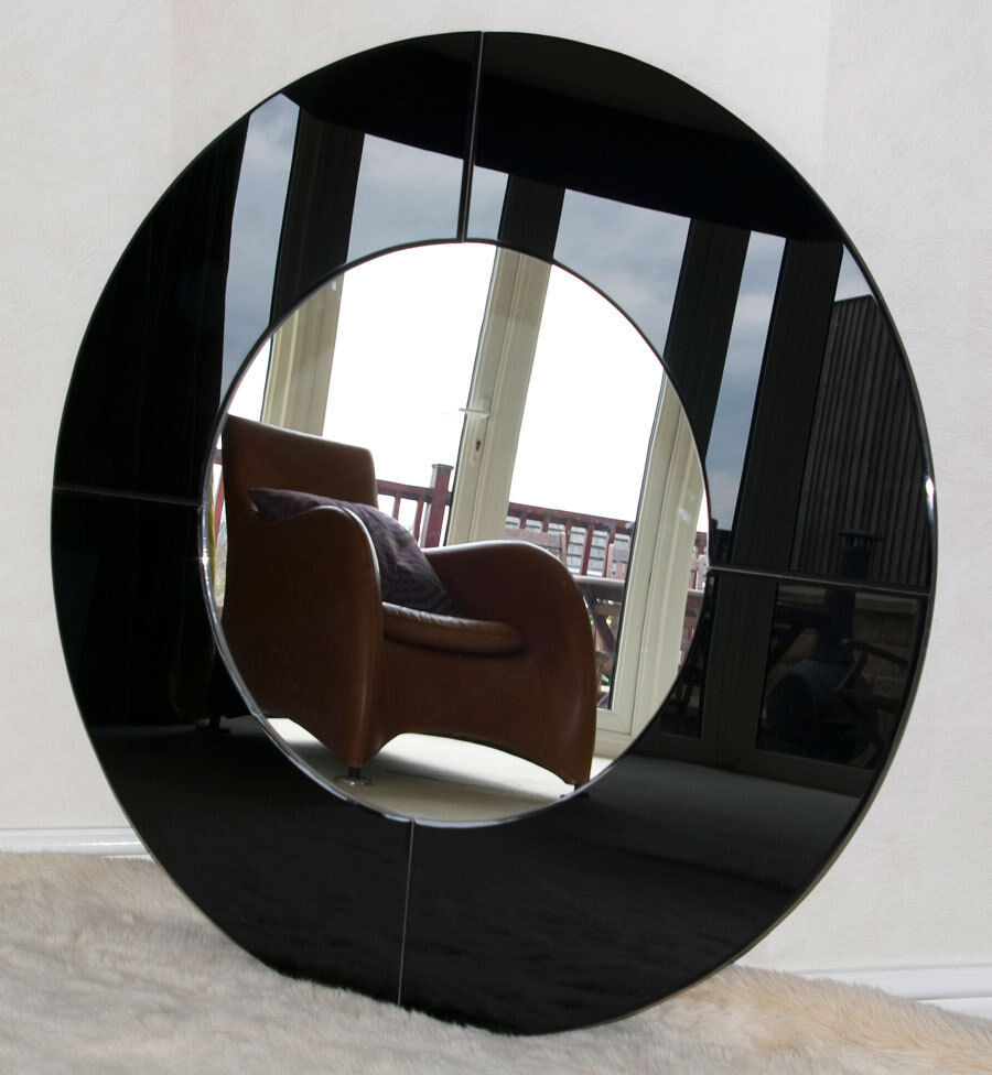 Brand new frameless modern large round mirror in gloss Modern round mirror