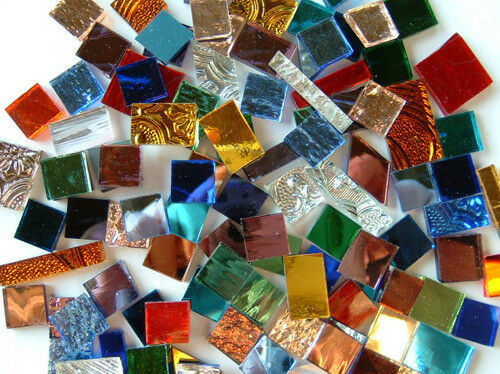 1 2 mixed color mirror glass mosaic tile tiles ebay for Mosaic tiles for craft