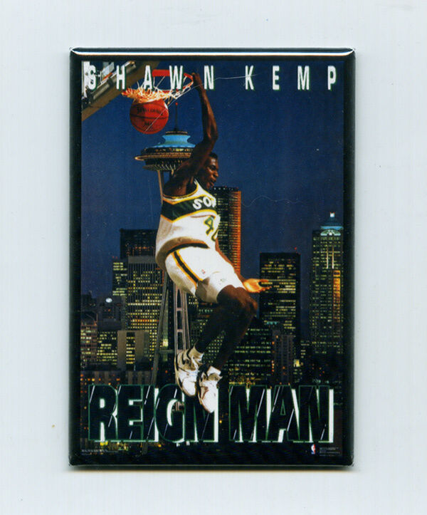 Shawn Kemp Costacos Brothers Mini Poster Fridge Magnet