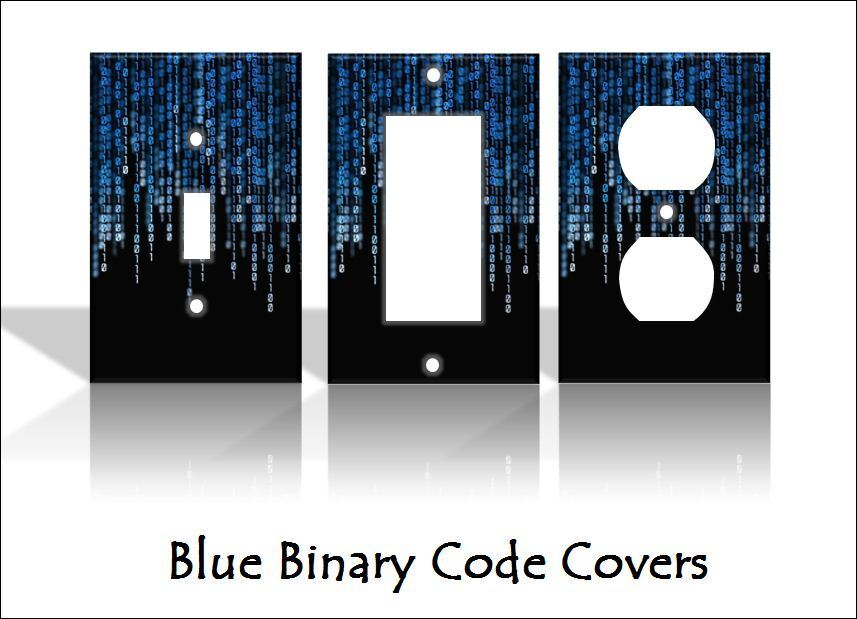 Binary numbers math geekery light switch covers home decor for Home decor outlet 63125