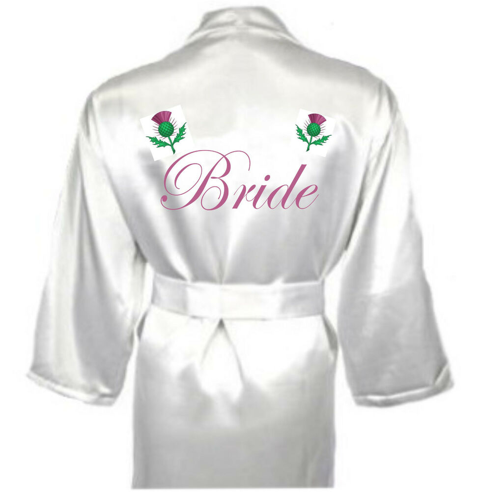 Scottish Wedding Gift For Bride : ... Scottish Thistle Robe / Dressing Gown Gift for Bride Celtic Wedding