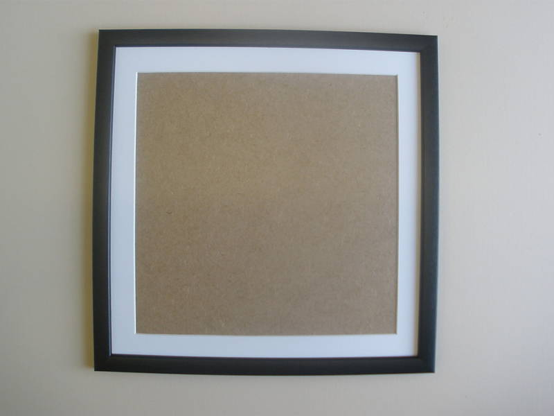 black wooden picture frame with mount and glass ebay