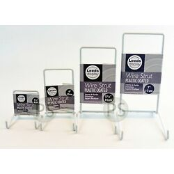 White Wire Strut Display Stand : 6-35cm, 2-5'' to 14'' : Small, Medium, Large, Set