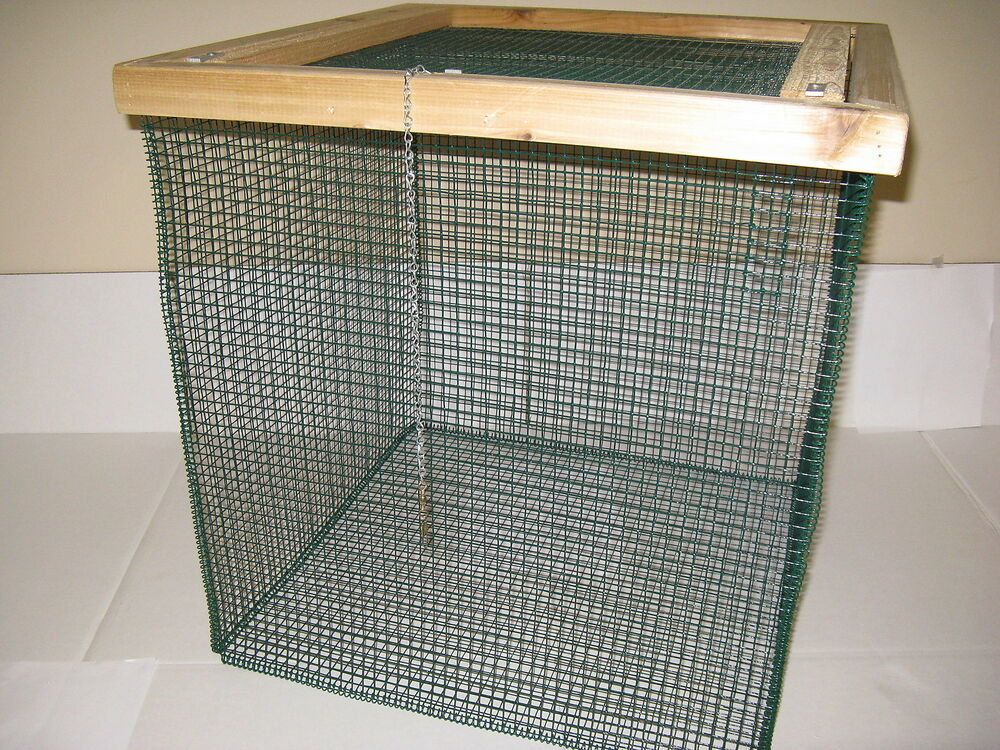 2 39 ft best floating live fish well basket with 1 2 wire for Live fish basket