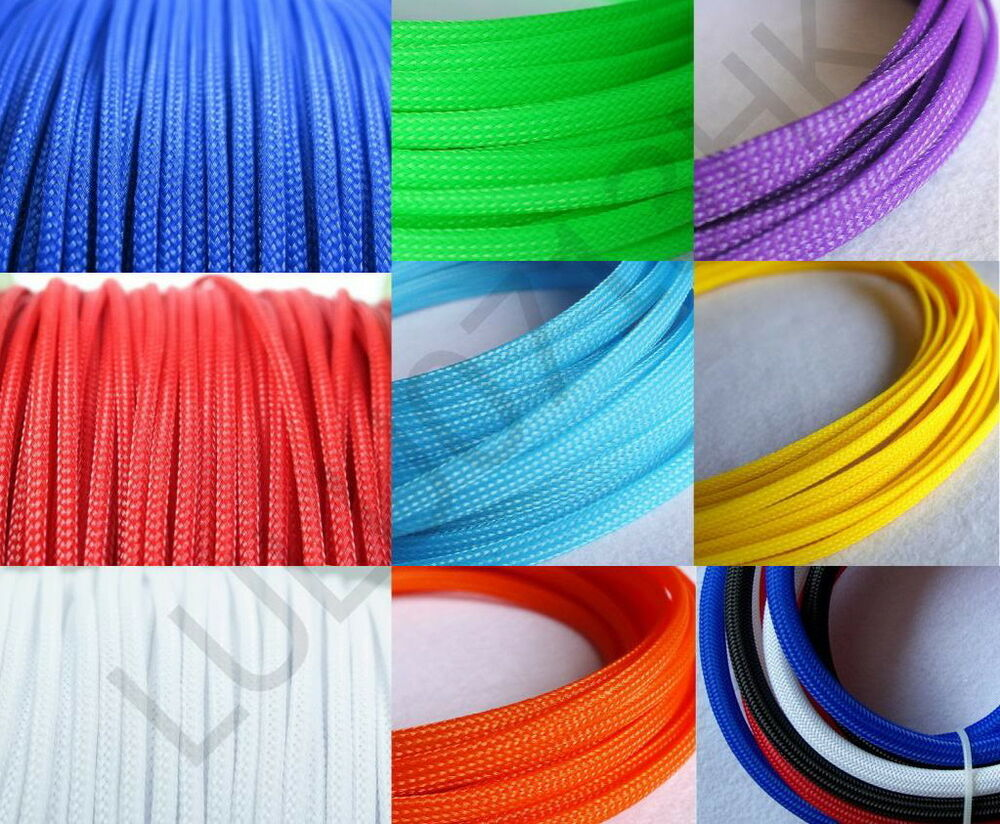 Mix Color Expandable Braided Dense Pet Sleeving Cable 3