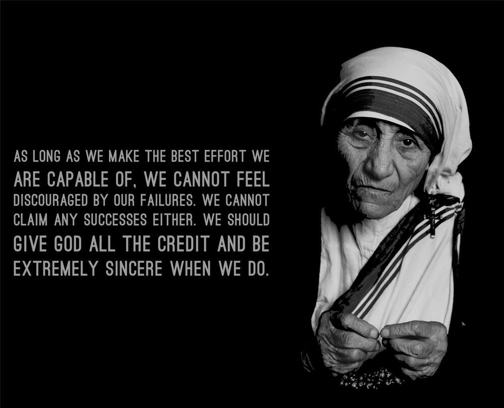 MOTHER THERESA QUOTE GLOSSY POSTER PICTURE PHOTO