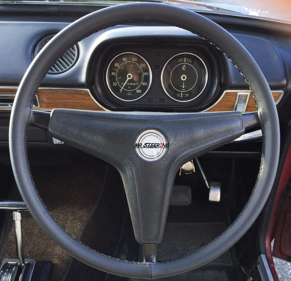 For Ford Escort Mk1 Black Best Italian Real Leather