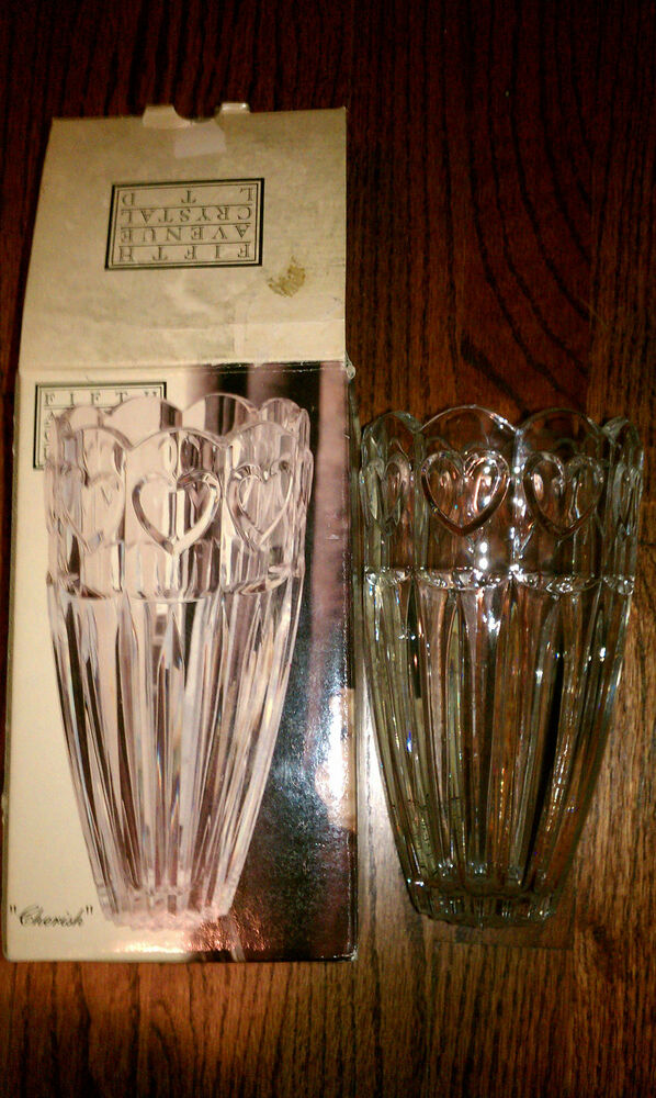 Fifth Avenue Crystal Ltd Cherish 7 12 Crystal Vase Brand New In