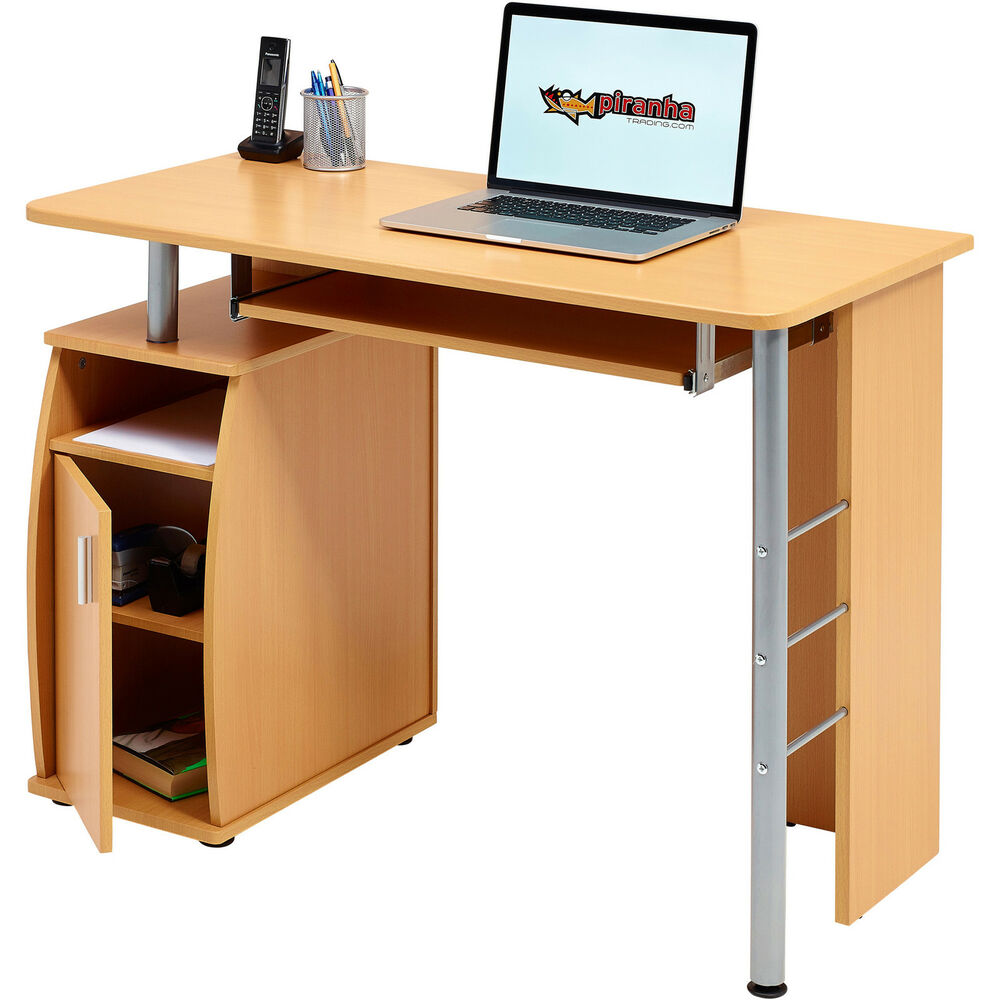 Computer Desk Cupboard & Shelves Furniture for Home Office PC 1b