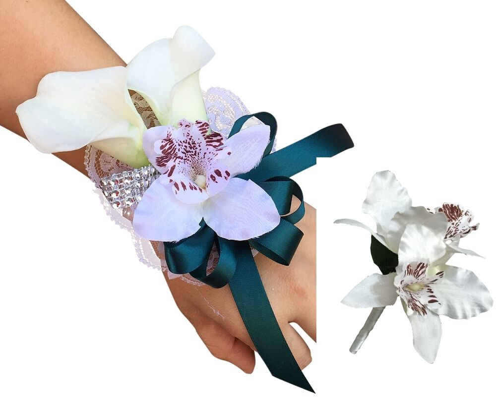 Calla Lily And Orchid Wrist Corsage And