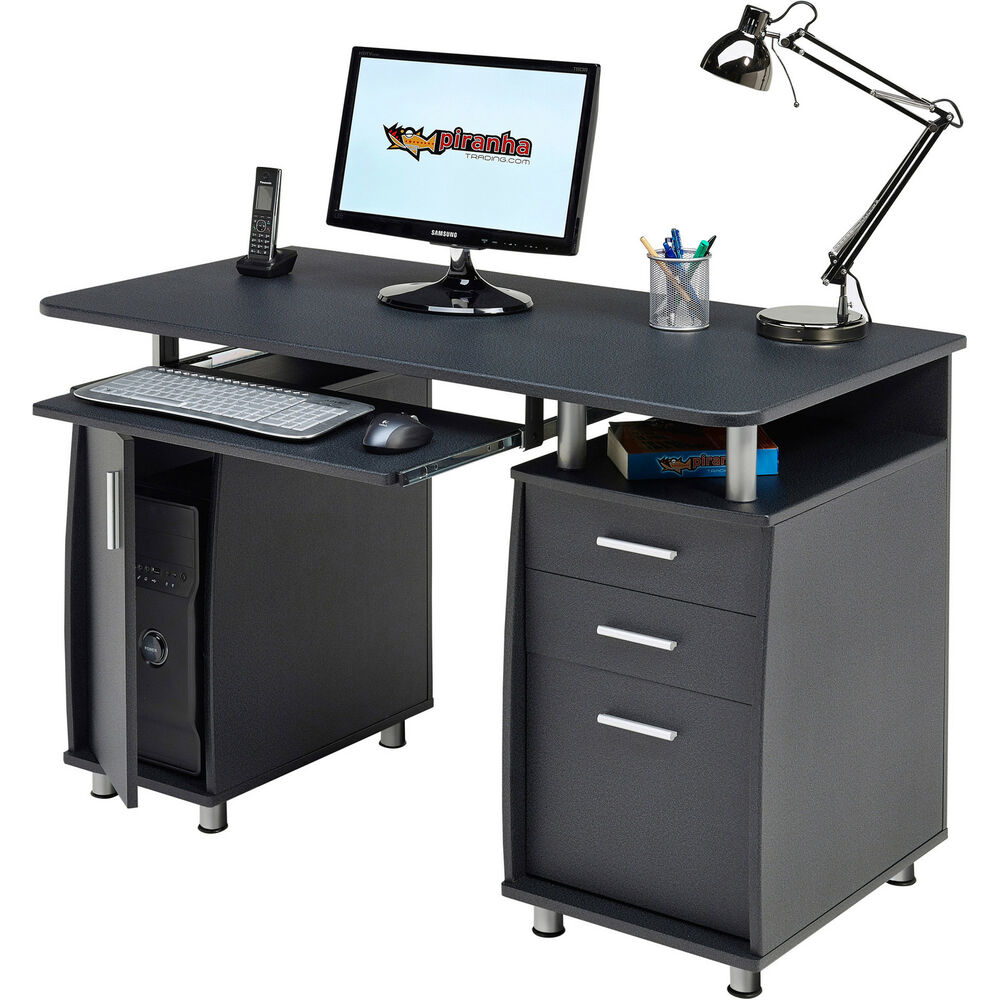 Large Computer Desk With Drawer & Cupboard Piranha. Christmas Centerpieces For Tables. Nesting Coffee Table. Book Stand For Desk. Steelcase Tanker Desk. Anglepoise Desk Lamp Uk. Rolling Desk Chair. Desk Aquarium. Office Desk Exercises