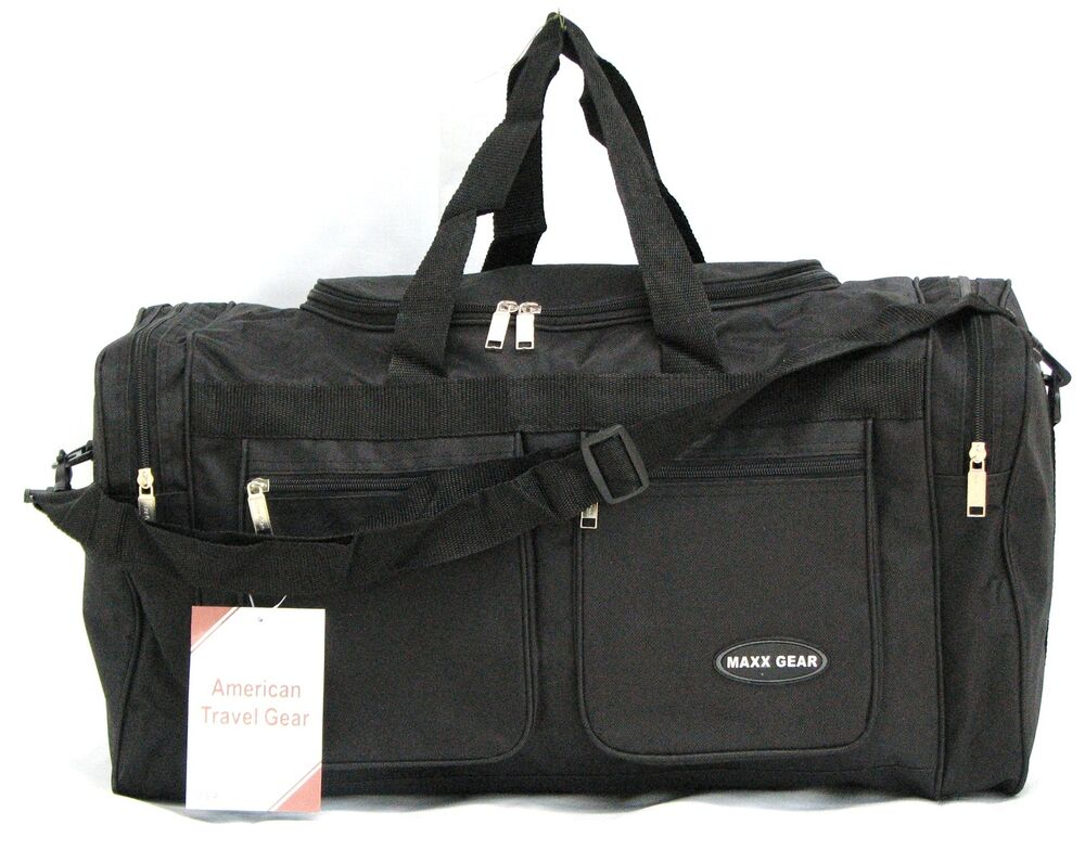 22 Quot 40lb Cap Maxx Gear Black Duffle Bag Gym Bag