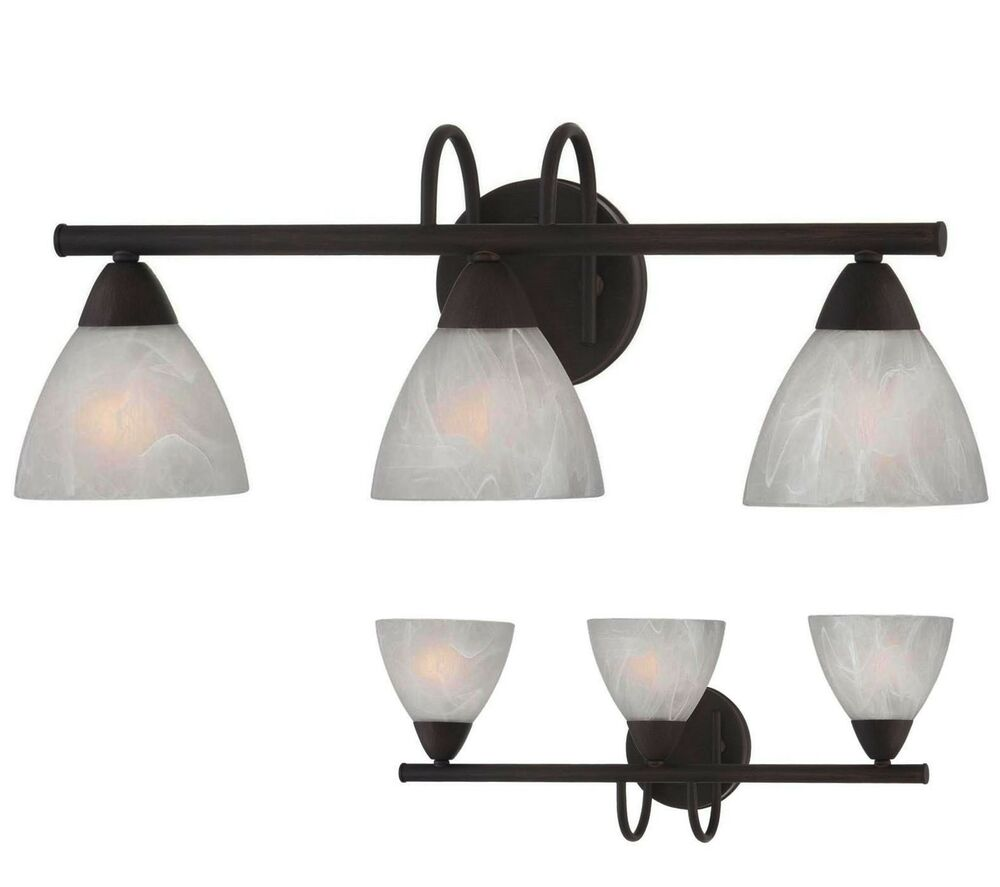 Oil Rubbed Bronze 3 Light Bathroom Vanity Wall Lighting