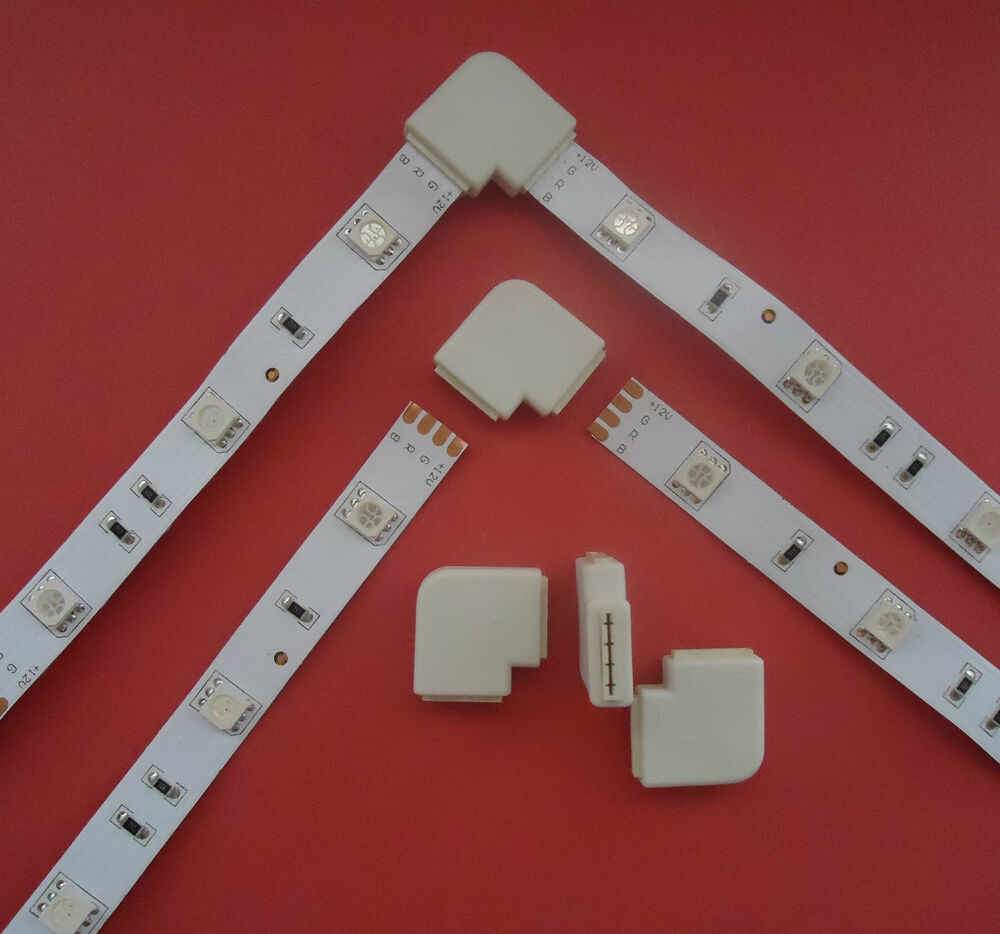 5er pack schnellverbinder verbinder adapter f r led rgb stripe 5050 kabel connector smash. Black Bedroom Furniture Sets. Home Design Ideas