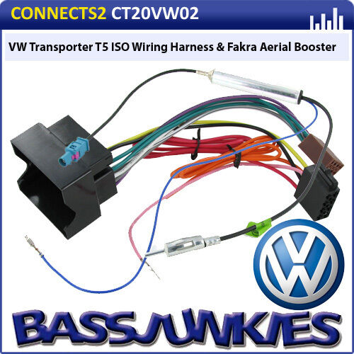 vw transporter t5 car van radio stereo iso wiring harness. Black Bedroom Furniture Sets. Home Design Ideas